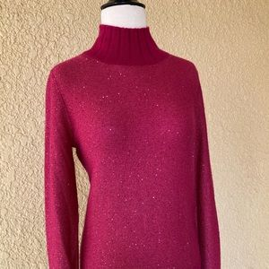 Neiman Marcus Cashmere Collection Magenta Small